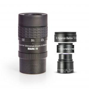 SET: Окуляр Hyperion Universal Zoom Mark IV + Hyperion Barlow 2,25x (8-24mm / 3,6-10,7mm)