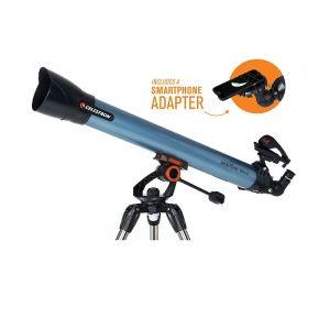 Телескоп Inspire 80AZ рефрактор с адаптер за смартфон